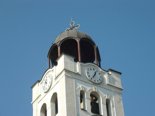 Belfry of St. Demetrius Church in Skopje
