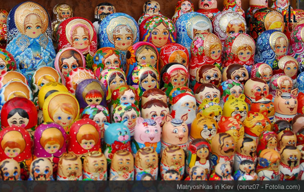 Matryoshka dolls in Kiev.