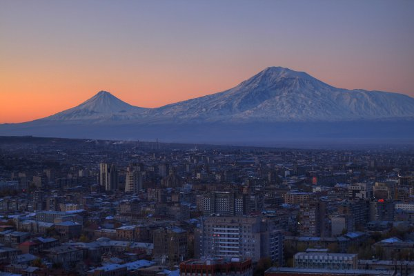 Yerevan and Mt. Ararat.
