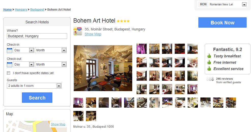 Hotel Comparison Website