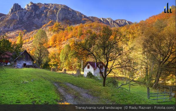Transylvania rural landscape