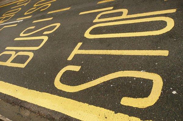Bus stop image.