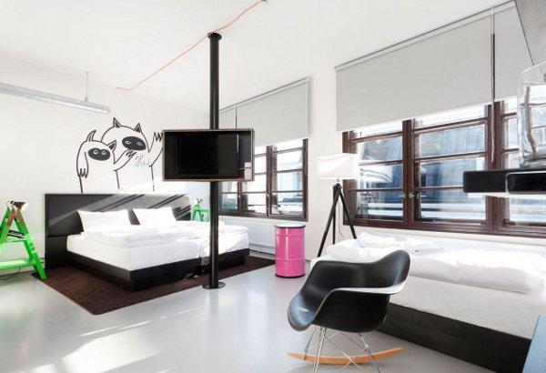 Fusion Hotel Prague deluxe room.