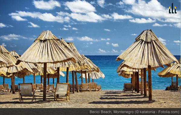 Becici Beach, Montenegro