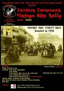 Eastern European Vintage Bike Rally poster