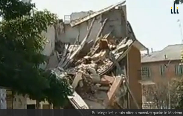 Modena earthquake