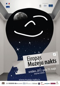 Latvia Museum Night 2012 poster.