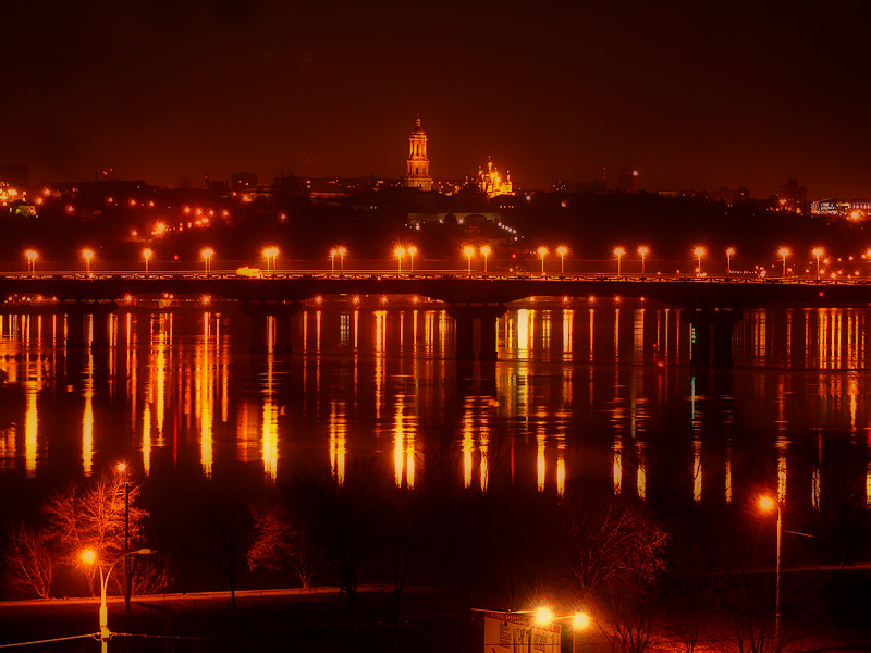 Dnipro at Night