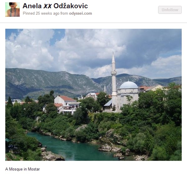 Mosque in Mostar from Anela ✗✗ Odžakovic