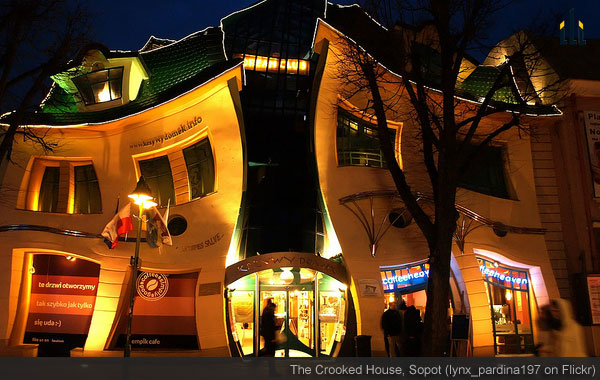 The Crooked House, Sopot.