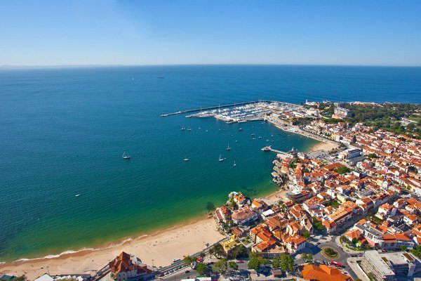 Aerial view of Cascais