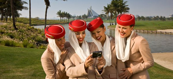 Why are these Emirates attendants smiling?
