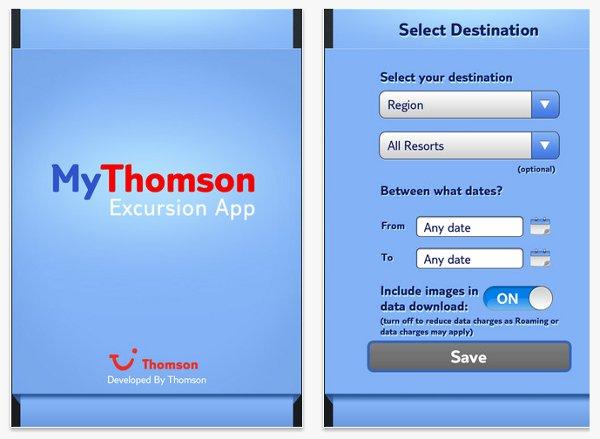 MyThomson Excursions App