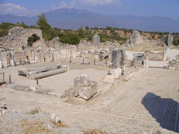 Byzantine mosaic in Xanthos