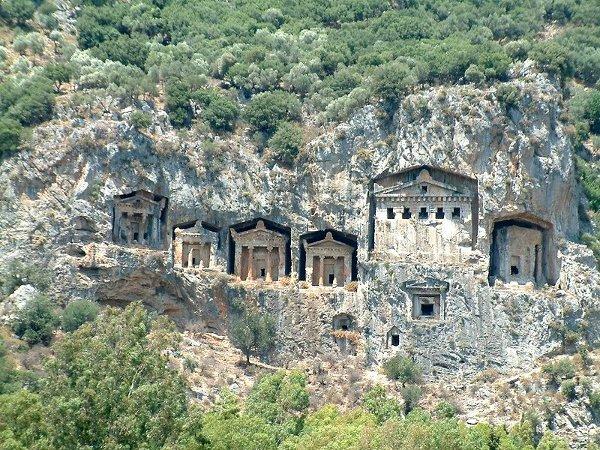 Lycian tombs near Dalyan