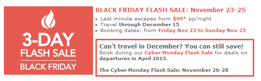 Club Med Black Friday sale.