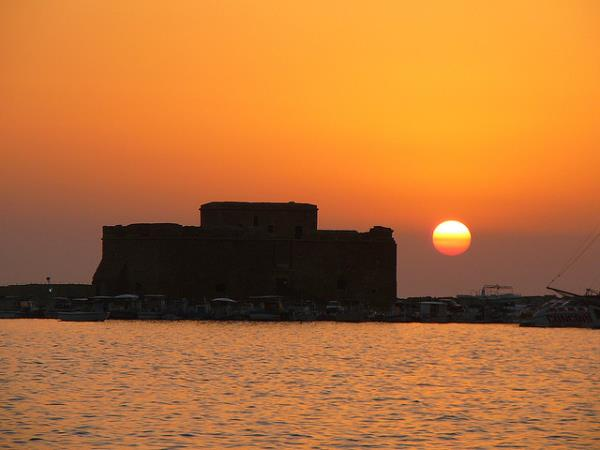 Sunset at Kato Paphos, Cyprus. Image courtesy of Lisa_on_Flickr