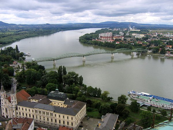 The Danube separates Hungary from Slovakia