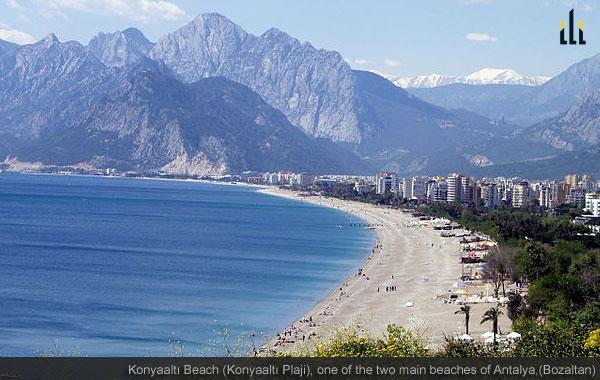 Konyaalti Beach, Antalya, Turkey.
