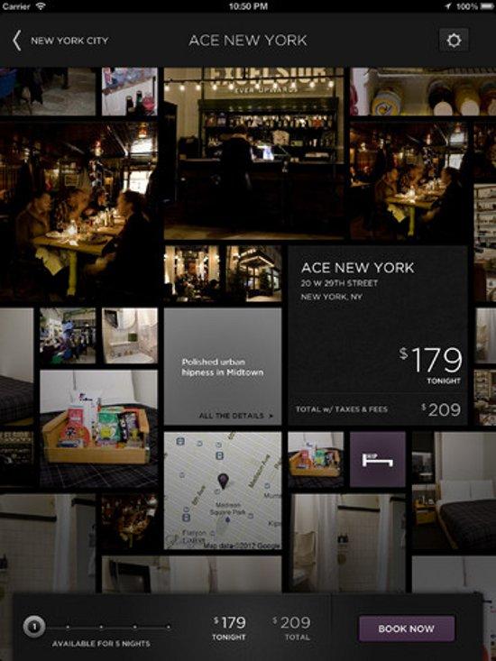 HotelTonight iPad experience