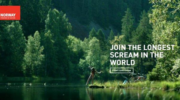 Visit Norway Scream campaign