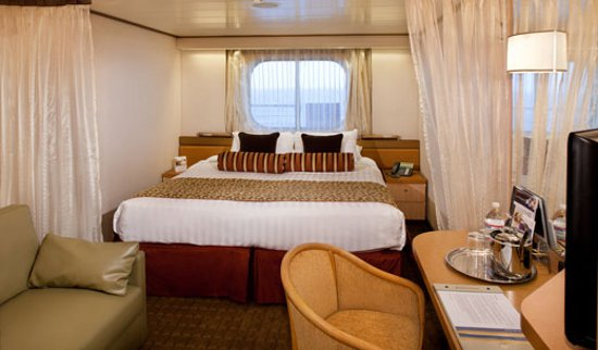 Ocean view Rotterdam stateroom. 