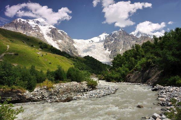 Adishi glacier with Adishi grove © vyskoczilova