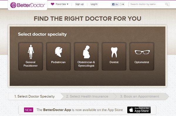 Better Doctor website landing