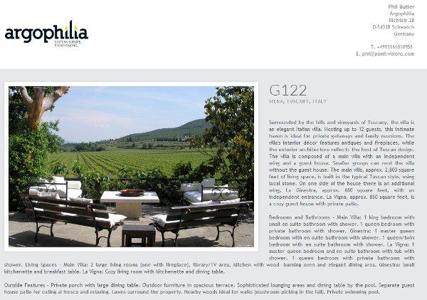 Siena villa brochure