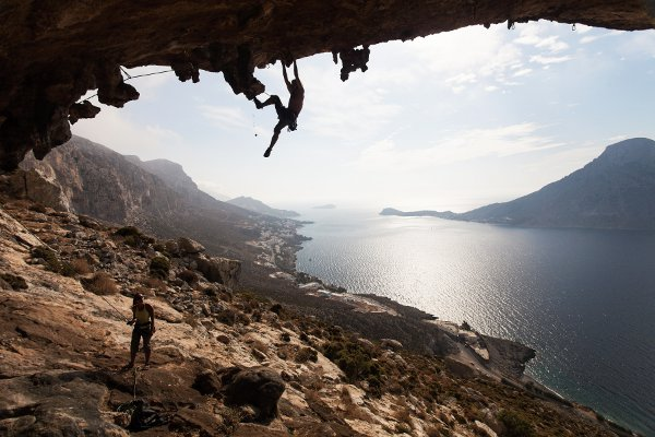 Greece rock climbers