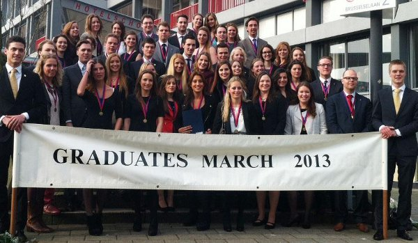 This month's Hotelschool The Hague graduates