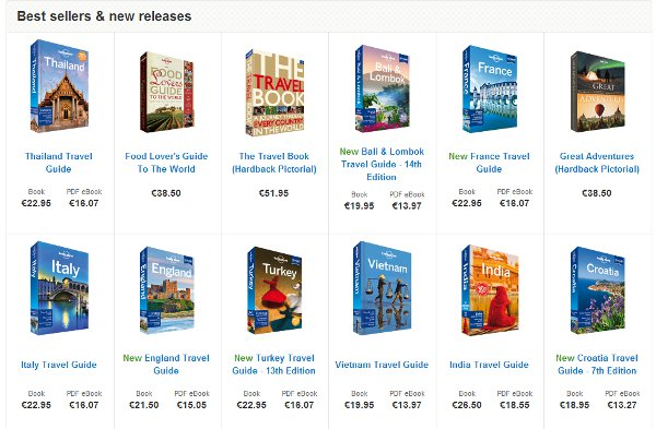 Not a word about Lonely Planet guide books