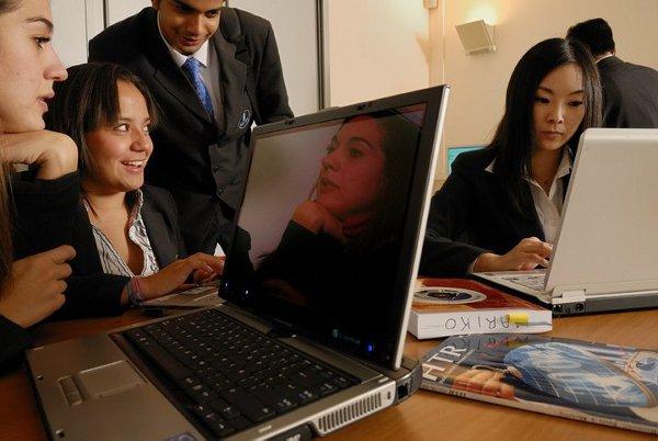 Vatel students study via laptop