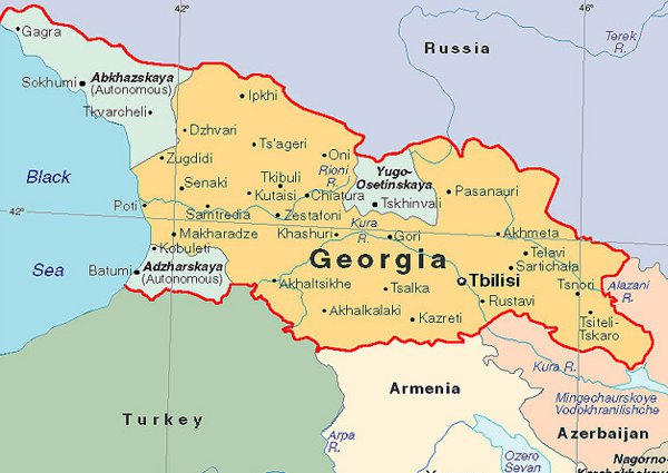 map of eastern europe georgia Georgia & Other East Europe Nations: Are They Key to EU Longevity?