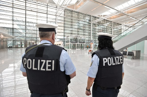 Federal police at Munich Airport