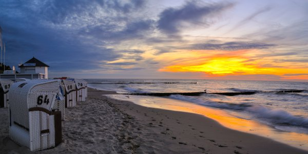 Sonnenuntergang Kühlungsborn Strand