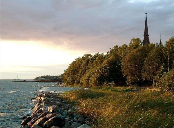 The Baltic Sea shoreline