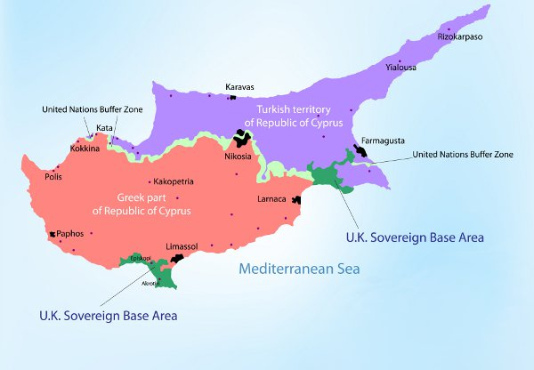 Northern Cyprus Tourism Not At All Gloom And Doom - Northern cyprus map