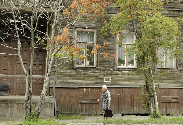 Wooden house at Arkhangelsk