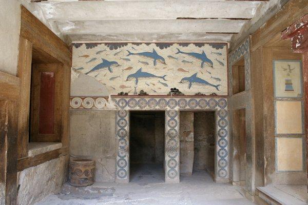 Dolphin Sanctuary fresco Crete