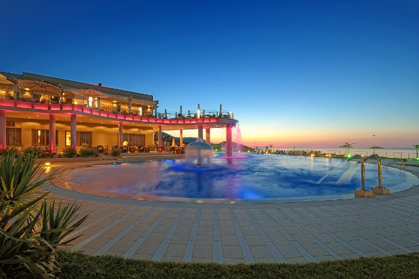 One of the pools at Royal Heights Resort