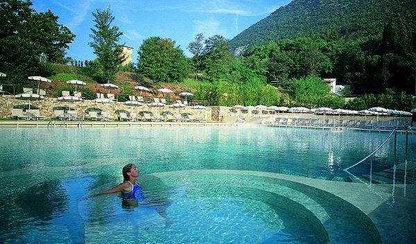 Freshwater pool at Grotta Giusti Natural Spa Resort
