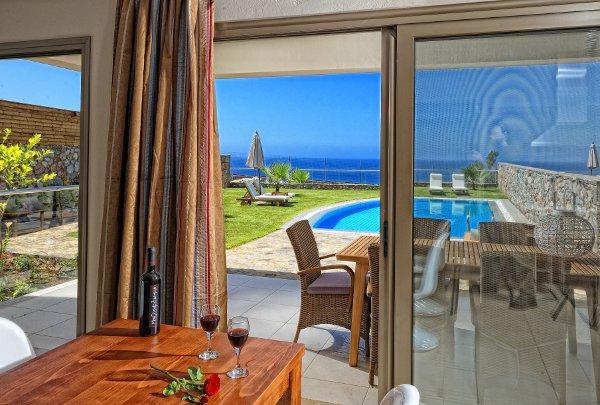 Ambassador Villa overlooking private pool and the sea