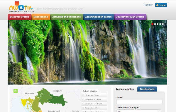 Croatia Tourism Board Site
