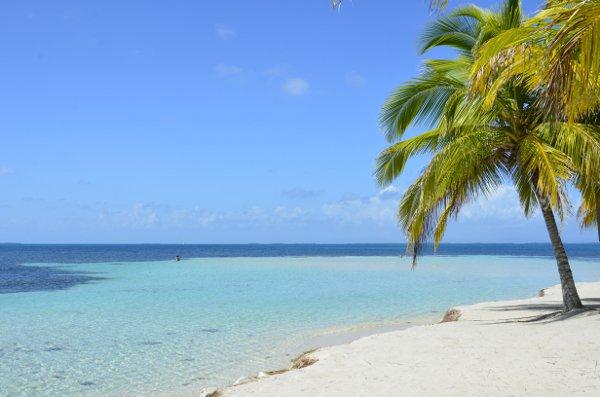 A beach in Belize