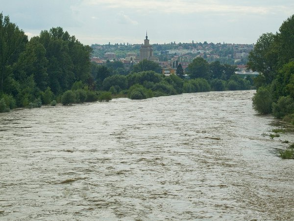 Prague's main cycle way the other day.