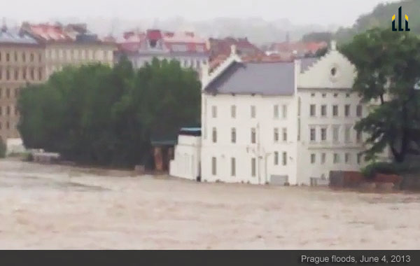 Floods in Prague, June 4, 2013