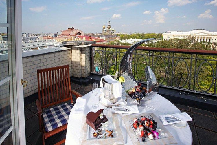 Terrace view of St. Petersburg