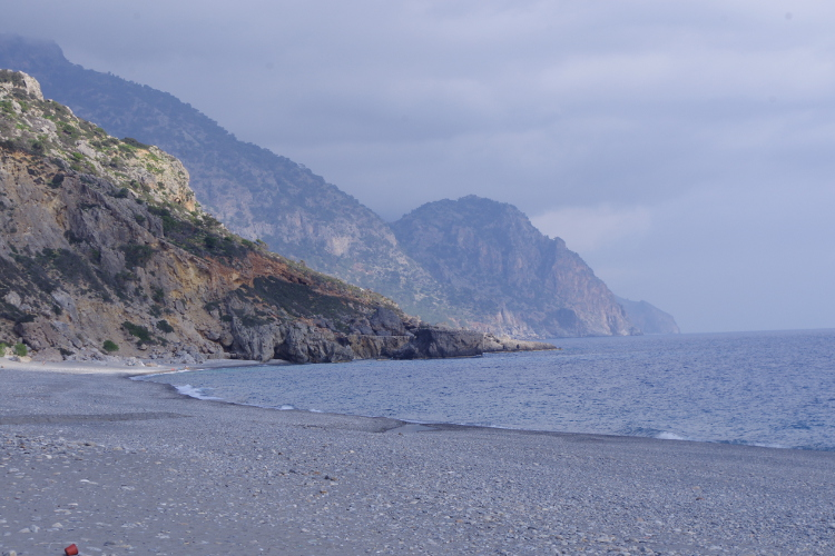The beach at Sougia - via the author