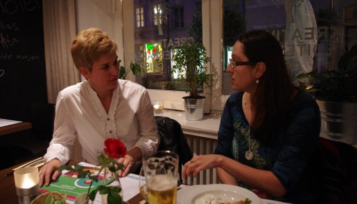 Ana Goumas and Mihaela  Lica Butler discuss Greek cuisine